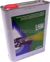 LHM original! Kein LHM+ ! Hergestellt von Pentosin nach alten Werksvorgaben! Abgefüllt in 2 Liter Blechdosen, die in den originalen Halterungen z.B. bei Citroen DS passen!  Pentosin war früher der Hersteller für das LHM. Dieses LHM ist exclusiv für
