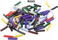 Kabelbaum Farbmarkierungen (100 Stück), für Stecker mit 4mm Durchmesser (zum aufstecken). 9 verschiedene Farben. Passend für Citroen 2CV, DS, HY, SM, GS, CX, Peugeot - 35688 - Der Franzose