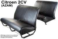 Sitzbankbezug 2CV (AZAM) komplett, für 1 Sitzbank vorne + 1 Sitzbank hinten. Kunstleder schwarz. Die Oberfläche ist glatt. Made in France. | 18660 | Der Franzose - www.franzose.de
