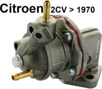 Benzinpumpe mit waagerechten Zulauf. Für Citroen 2CV bis Baujahr 1970. Ohne Handpumpenhebel! - 10029 - Der Franzose