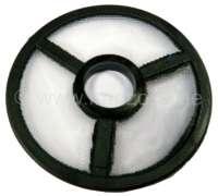 Benzinvorfilter Benzinpumpe. Für Benzinpumpen mit runden Deckel. Wir lassen mittlerweile fast alle Pumpen selber Nachfertigen. Bei den von uns angefertigten Pumpen kann der Deckel abgeschraubt werden. (runder Deckel mit 6mm Schraube in der Mitte). Durchmesser ca. 41,4mm, Bohrung 10,3mm. - 10615 - Der Franzose