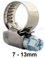 Schlauchschelle aus Edelstahl, für die Benzinleitung, 7-13 mm. Passend für Citroen 2CV.