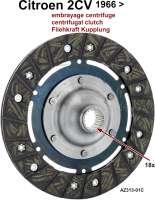 Kupplung Mitnehmerscheibe Fliehkraftkupplung. Passend für Citroen 2CV ab Baujahr 04/1966. 160mm Durchmesser. 18 Zähne. Or.Nr.AZ313-01C - 10495 - Der Franzose
