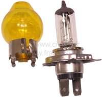 Glühlampe 12 Volt. H4, Glaskolben gelb für H4 Lampe. Der Glaskolben wird über die H4 Lampe gestülpt. Damit hat man dann gelbes Licht! Der Glaskolben kann jederzeit wieder demontiert werden. -2 - 14389 - Der Franzose