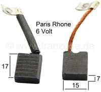 Lichtmaschinenkohlen Paris Rhone für Citroen 2CV fünfziger Jahre. Die  Lichtmaschine ist auf der Kurbelwelle montiert. Verbaut ab 1954. Maße: 15x7mm. - 14291 - Der Franzose