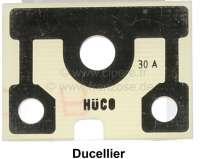 Lichtmaschinensicherungsplatte, für Ducellier 12 Volt. Passend für Citroen 2CV. | 14106 | Der Franzose - www.franzose.de