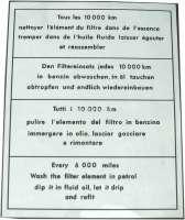 Aufkleber Luftfilter transparent, für Citroen AMI. | 16990 | Der Franzose - www.franzose.de