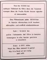 Aufkleber Luftfilter, weiß-schwarz, für Citroen AMI. | 16991 | Der Franzose - www.franzose.de