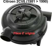 Luftfiltergehäuse aus Kunststoff, original Citroen. Der Luftfilter wird mit Filtereinsatz geliefert. Passend für Citroen 2CV6, ab Baujahr 1981. - 10007 - Der Franzose