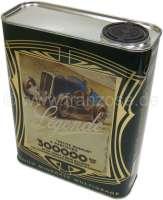 Motoröl Yacco 15W50. Inhalt 2 Liter. Es ist eines der ganz wenigen 15W50 Ölen!. Wird in einer Blechdosen ausgeliefert, welche  genau in die Halterungen von französischen Oldtimern passen. YACCO war der originale Öllieferant für Citroen in den 40iger + 50iger Jahren. Altöl muss nach der Altölverordnung (AltölVO) fachgerecht entsorgt werden. Sie können das Altöl bei den Altölsammelstellen, die zur Rücknahme verpflichtet sind, abgeben und von dort aus wird es dann dem Recyclingsystem zugeführt. Literpreis = 15,00 Euro. | 10464 | Der Franzose - www.franzose.de