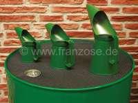 Ölkannen Set aus Blech (3 Stück). Farbe: grün. Fassungsvermögen: 1/2 Pint (0,28 Liter). 1 Pint (0,5683 Liter), 2 Pint (1,13 Liter). | 21060 | Der Franzose - www.franzose.de