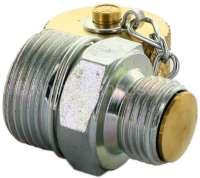 Ölablaßschraube mit Ventil. Gewinde M16 x 1,5. Dieses Ventil wird anstatt der originalen Ölablaßschraube montiert. Einfach Schutzkappe entfernen - Schlauch anschrauben (10637), dann öffnet das Ventil. Schutzkappe montieren - Ventil geschlossen. Alles ohne Werkzeug. Keine schmutzigen und verbrannten Hände, kein Öl auf dem Boden. Und nur 1x montieren. Das schont das Gewinde in der Ölwanne (die oft nicht mehr lieferbar sind). Komplett hergestellt in Deutschland! Das Gewinde M16 x 1,5 war verbaut in: Citroen 2CV, DS, HY, 11CV, GS. Fast alle klassischen Peugeot (403, 404, 504, 304, 204) -1 - 10636 - Der Franzose
