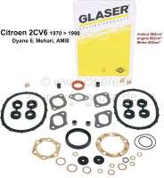 2CV6, 602ccm, Motordichtsatz incl. Simmerringe und Ventilschaftringe. Passend für Citroen 2CV6 von Baujahr 1970 bis 1990. Erstausstatterqualität!