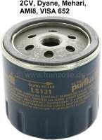 Ölfilter für Citroen 2CV. Original Lieferant (GL231/LS131). (Kein Nachbau). Passend  für Citroen 2CV + Visa 652, ab Baujahr 09/1971. - 10000 - Der Franzose