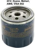 Ölfilter für Citroen 2CV. Original Lieferant (GL231/LS131). (Kein Nachbau). Passend  für Citroen 2CV + Visa 652, ab Baujahr 09/1971. | 10000 | Der Franzose - www.franzose.de