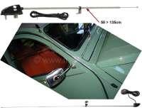Antenne, für den seitlichen Anbau an A-Säule. Verchromt. Diese Antennen waren bei vielen französischen Fahrzeugen verbaut. Z.B bei Citroen 2CV, Renault R4, Citroen HY usw. -1 - 14141 - Der Franzose