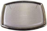 Lautsprecherabdeckung Chrom, eckig, 120x160mm. Universal passend. Per Stück - 18510 - Der Franzose