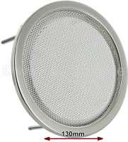 Lautsprecherabdeckung Chrom, rund, 130mm, Universal passend, per Stück - 18508 - Der Franzose