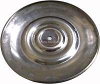 Radkappe 2CV/AMI6, alte gewölbte Form. Passt auf alle Citroen 2CV Felgen! Befestigung mittels mittlerer Schraube. Durchmesser 230mm. Material Edelstahl poliert! -1 - 16958 - Der Franzose