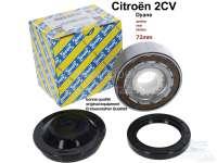 Radlagersatz für Citroen 2CV, hinten (Incl. Simmerring + Fettkappe). Original Hersteller