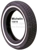 Reifen 135/15 mit 20mm Weißwand. Hersteller Michelin. Der Weißwand wird nachträglich aufvulkanisiert. Lieferzeit ca. 2-4 Wochen. | 12350 | Der Franzose - www.franzose.de