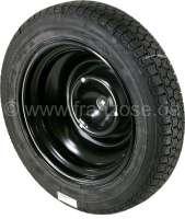 Reifen aufgezogen auf einer neuen Felge, 135/15. Hersteller Michelin. Wir verwenden nur unsere eigenen, serienidentischen Felgen und keine Nachbau Felgen! Passend für Citroen 2CV, AK400, Dyane, AMI. -1 - 12272 - Der Franzose