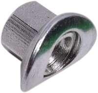 Radmutter kurz, verzinkt, passend für Citroen 2CV, Dyane, Mehari, AMI. Maß: M12 x 1,25. Geeignet bis Anzugsdrehmoment 2CV: 45 Nm. -1 - 12070 - Der Franzose