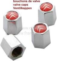 Ventilkappen, für Reifen Ventil. Mit Citroen Logo. Satz = 4 Stück! - 12312 - Der Franzose