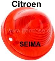 Rücklichtkappe rot, rund (Nachbau, ohne Prüfzeichen), für Citroen AK/AZU (Kastenenten), DS Break, HY, Mehari, Ami6. Für Lampenhersteller Seima. Or.Nr.AK544262A - 14221 - Der Franzose