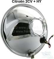 Scheinwerfereinsatz rund, H4. Passend für Citroen 2CV, HY. Per Stück. Nachbau. Hergestellt in Indien. -1 - 14002 - Der Franzose