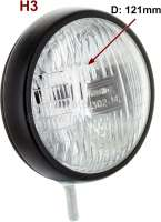 Zusatzscheinwerfer: Nebelscheinwerfer rund universal, sehr schöne + kleine  Ausführung, Gehäuse Metall schwarz. Gesamtdurchmesser 121mm. Tiefe nur 60mm mit Gehäuse!!! Leuchtmittel (H3) wird nicht mitgeliefert. Der Scheinwerfer hat kein
