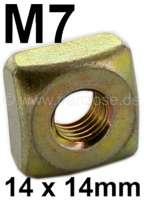 Käfigmutter M7 (Kastenmutter 14 x 14mm). Passend für Citroen 2CV (vorne am originalen Chassis. Befestigung Lampenbaum - Stoßstangenhalter) | 21057 | Der Franzose - www.franzose.de