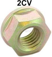 2CV, Kotflügel vorne, Mutter für die Befestigung, wie Original. Passend für Citroen 2CV, ab Baujahr 1963 bis 1990. Die Mutter ist verzinkt und hat eine breitere Auflagefläche. - 16414 - Der Franzose
