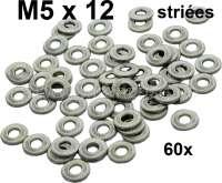 M5, Unterlegscheiben geriffelt (Striees). M5x12mm. Packungsinhalt 60 Stück! Diese geriffelten Unterlegscheiben wurden original in französische Fahrzeuge verbaut! - 20271 - Der Franzose