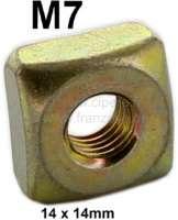 M7 Käfigmutter (Kastenmutter 14 x 14mm). Passend für Citroen 2CV (vorne am originalen Chassis. Befestigung Lampenbaum - Stoßstangenhalter) - 21057 - Der Franzose