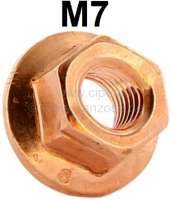M7, Kupfermutter für Auspuffanlagen! Verkupfert! An Auspuffanlage und Auspuffkrümmer sollte man immer Kupfermuttern verwenden, da sie nicht anrosten können bzw. sich durch die Hitze festbrennen können. - 20139 - Der Franzose