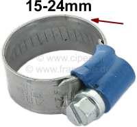 Schlauchschelle+15-24mm%2C+speziell+f%FCr+K%FChlerschlauch.+Nostalgische+Optik.+Gepr%E4gtes+Band+mit+hochgestellten+Kanten.+Somit+wird+ein+verquetschen+des+Schlauches+vermieden.+Kleines+Schraubgeh%E4use+mit+7mm+Sechskantschraube+%28mit+Schlitz%29.+Bandbreite%3A+12mm.+Normale%2C+moderne+Schlauchschellen+zerquetschen+den+Schlauch.+Das+wird+mit+diesen+Schellen+komplett+vermieden.+Und+sie+sehen+auch+noch+besser+aus.