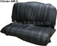 AMI8, Sitzbankbezug hinten, aus Kunstleder. Farbe: schwarz. Passend für Citroen AMI8. | 18595 | Der Franzose - www.franzose.de