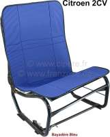 2CV alt, Sitzbezug Hängematte blau gestreift (Bayadère Bleu). Per Stück. Vorne + hinten passend. Made in France. | 18313 | Der Franzose - www.franzose.de