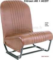 Sitz rechts komplett (symetrisch), Kunstleder braun (Neuteil). Design: die Oberflache ist perforiert. Passend für Citroen AK, ACDY. | 18639 | Der Franzose - www.franzose.de