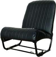 2CV, Sitzbezug Vordersitz links, Symetric. Kunstleder schwarz. Die Seiten sind geschlossen. Made in France. | 18309 | Der Franzose - www.franzose.de