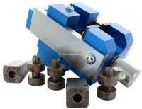 Hydraulikleitungs Bördelgerät, für die Brems und Hydraulikleitungen. Speziell für Citroen Verschraubungen. Mit Druckstücken für 3,5mm + 4,5mm Leitungen (8,0mm + 9,0mm Bördelschrauben). - 20053 - Der Franzose