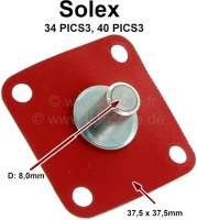 Membrane Beschleunigerpumpe 2CV, AMI, Dyane, GS. Für Vergaser Solex 34 PICS3, Solex 40 PCIS3, 40 PICS3. 16mm Teller, 8mm Stößel. - 10597 - Der Franzose