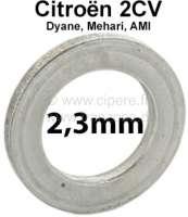 Achsschenkelbolzen Ausgleichscheibe (Distanzscheibe). Dicke: 2,3mm. Passend für Citroen 2CV. Per Stück! Or. Nr.: A4137 - 12259 - Der Franzose