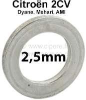 Achsschenkelbolzen Ausgleichscheibe (Distanzscheibe). Dicke: 2,5mm. Passend für Citroen 2CV. Per Stück! Or. Nr.: A4137A - 12260 - Der Franzose