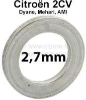 Achsschenkelbolzen Ausgleichscheibe (Distanzscheibe). Dicke: 2,7mm. Passend für Citroen 2CV. Per Stück! Or. Nr.: A4137B - 12261 - Der Franzose