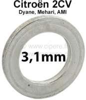 Achsschenkelbolzen Ausgleichscheibe (Distanzscheibe). Dicke: 3,1mm. Passend für Citroen 2CV. Per Stück! - 12390 - Der Franzose