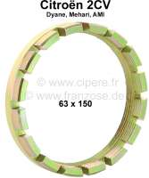 Schwingarmlager Sicherungsmutter, passend für Citroen 2CV. Maß: 63 x 150mm - 12035 - Der Franzose