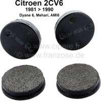 Bremsklötze Handbremse, Nachbau. Passend für Citroen 2CV + Citroen GS 1,0. Bei dem 2CV verbaut von Baujahr 1981 bis 1990. - 13003 - Der Franzose