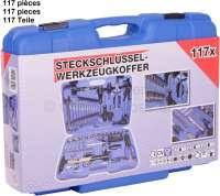Werkzeugkasten 117 teilig, gute Qualität. Optimal für Werkstatt Grundausstattung und als kompletter Werkzeugkoffer für das Auto. -1 - 21113 - Der Franzose